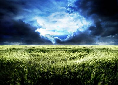 green, landscapes, grass, skyscapes - related desktop wallpaper