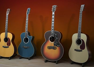 guitars - random desktop wallpaper