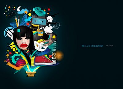 illustrations, posters, graphic design, designer, photo manipulation - random desktop wallpaper