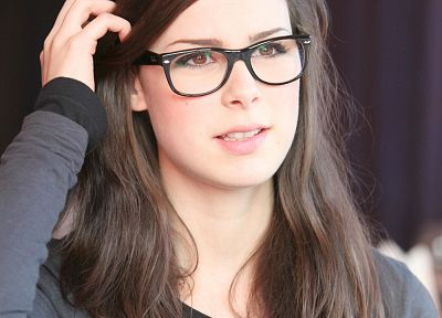women, glasses, Lena Meyer-Landrut, girls with glasses - random desktop wallpaper