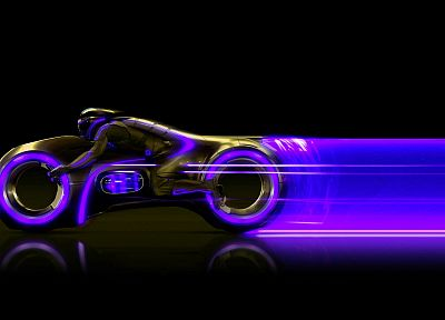 Tron, lightcycle - random desktop wallpaper