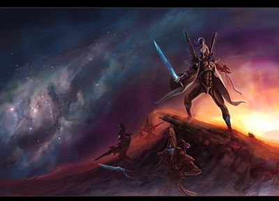 eldar, fantasy art, Warhammer 40, 000 - desktop wallpaper