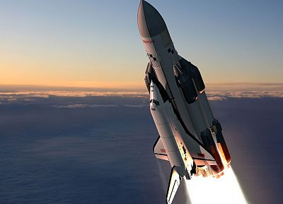 flying, Soviet, Space Shuttle, concept art, Buran shuttle - related desktop wallpaper