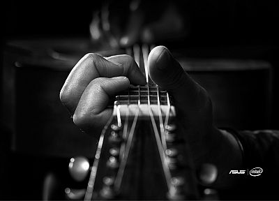 music, guitars, Asus, Intel - desktop wallpaper