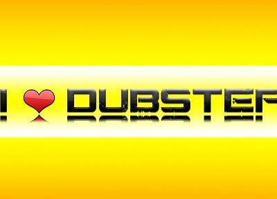 yellow, typography, dubstep - desktop wallpaper