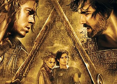 Paris, movies, Brad Pitt, Troy, Achilles, Hector, Helen of Troy - random desktop wallpaper