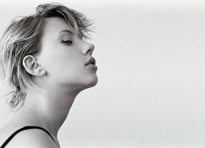 women, Scarlett Johansson, grayscale, monochrome - related desktop wallpaper