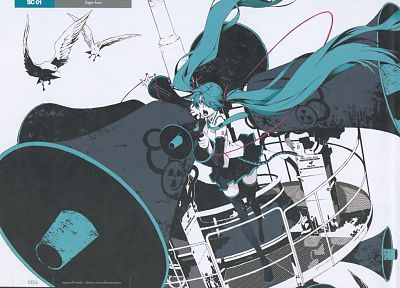 Vocaloid, Hatsune Miku, Love is War, detached sleeves - desktop wallpaper