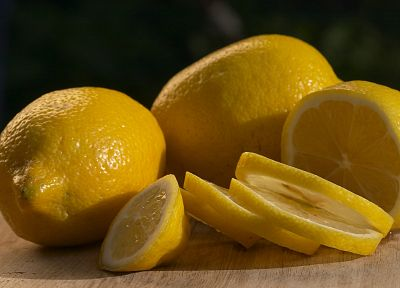 fruits, macro, lemons, slices - desktop wallpaper