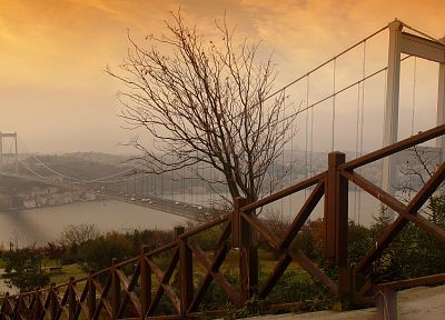 Turkey, Istanbul, bosphorus, Fatih Sultan Mehmet Bridge - random desktop wallpaper