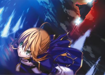 blondes, Fate/Stay Night, green eyes, Saber, Berserker (Fate/Zero), Fate series - random desktop wallpaper