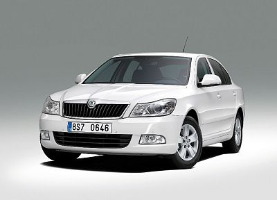 white, cars, Skoda - related desktop wallpaper