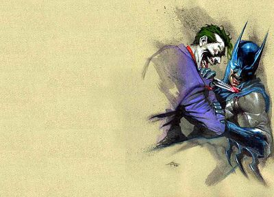 Batman, DC Comics, The Joker, knives - desktop wallpaper