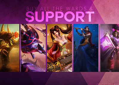 video games, League of Legends, Alistair, Taric, Sona, Lulu the Fae Sorceress, support - desktop wallpaper