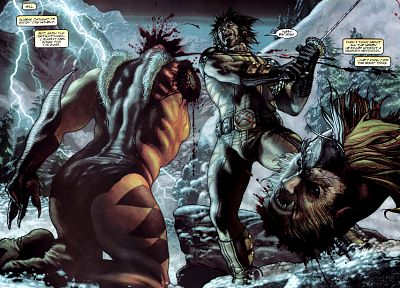 Wolverine, Marvel Comics, Sabretooth - desktop wallpaper