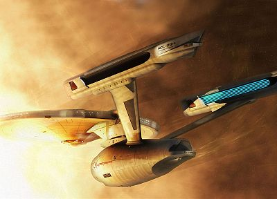 Star Trek, digital art, USS Enterprise - random desktop wallpaper