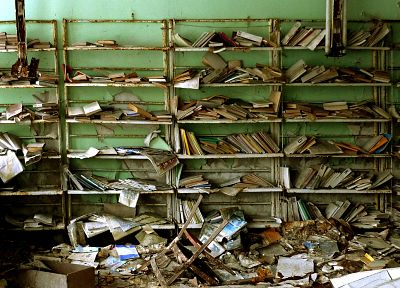 ruins, library, books - related desktop wallpaper