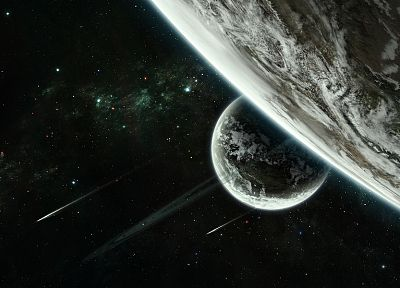 outer space, stars, planets - random desktop wallpaper