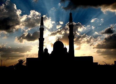 clouds, buildings, Islam, skyscapes, mosques - related desktop wallpaper