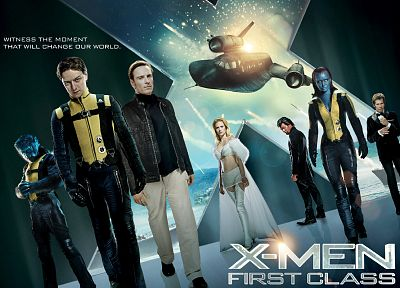 Mystique, Magneto, Kevin Bacon, movie posters, Emma Frost, James McAvoy, X-Men: First Class, Michael Fassbender, Charles Xavier, Hank McCoy (Beast) - related desktop wallpaper