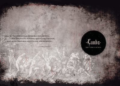 quotes, Hell, typography, Limbo, Dante's Inferno, Dante - related desktop wallpaper