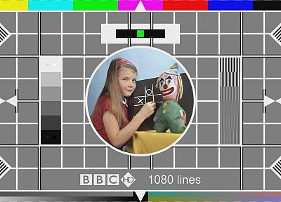 BBC, television, test pattern, channel - random desktop wallpaper