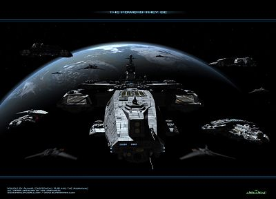 planets, Stargate, spaceships, digital art, science fiction, vehicles - related desktop wallpaper