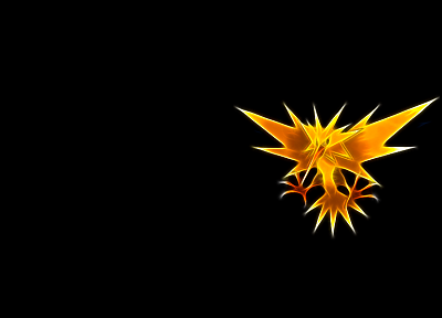 birds, funny, Zapdos, black background - desktop wallpaper