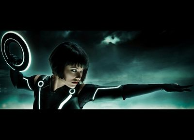3D view, movies, Olivia Wilde, Tron, Tron Legacy, Quorra - related desktop wallpaper