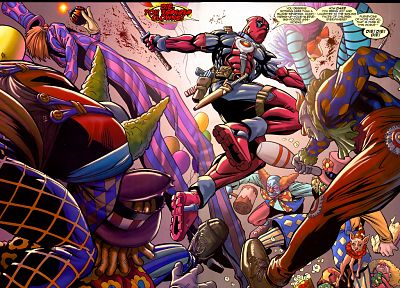 clowns, Deadpool Wade Wilson, Marvel Comics - related desktop wallpaper