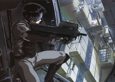 guns, Kusanagi Motoko, major, anime, Ghost in the Shell - random desktop wallpaper