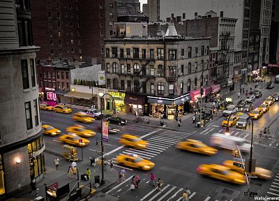 cityscapes, New York City, taxi - desktop wallpaper