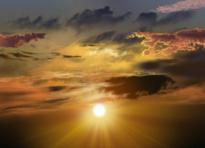 clouds, Sun, sunlight, skyscapes, sun flare - related desktop wallpaper