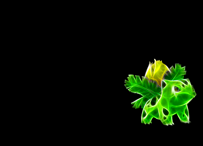 Pokemon, Ivysaur, black background - random desktop wallpaper