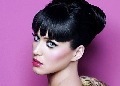 brunettes, women, Katy Perry, blue eyes, singers, faces - desktop wallpaper