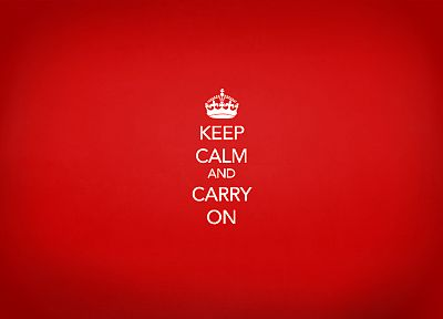 propaganda, Keep Calm and, simple background, red background - desktop wallpaper