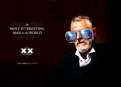 text, funny, sunglasses, The Most Interesting Man in the World - desktop wallpaper