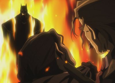 Batman, fire, couple - random desktop wallpaper