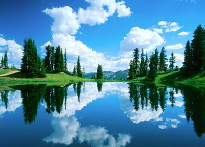 green, water, blue, clouds, skyscapes - related desktop wallpaper