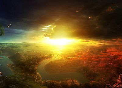 landscapes, Sun, skyscapes - related desktop wallpaper