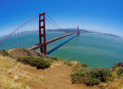bridges, Golden Gate Bridge, San Francisco, Pacific Ocean - random desktop wallpaper