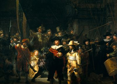 paintings, Night Watch, Rembrandt - random desktop wallpaper