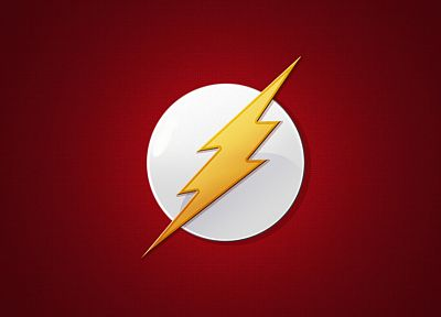 minimalistic, red, DC Comics, The Flash, logos, Flash (superhero) - desktop wallpaper