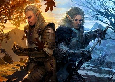 fantasy art, elves, artwork - related desktop wallpaper