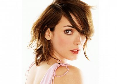 brunettes, women, actress, Winona Ryder, over the shoulder - related desktop wallpaper