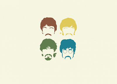 minimalistic, The Beatles - desktop wallpaper