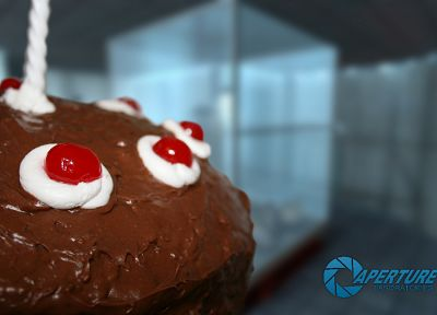 Portal, Aperture Laboratories, cakes - related desktop wallpaper