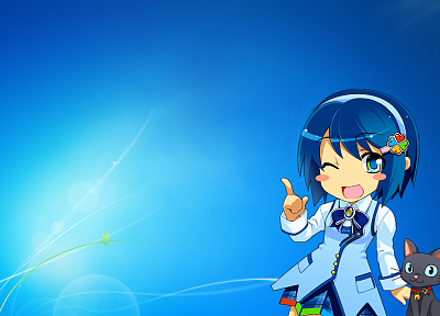 Windows 7, Madobe Nanami, anime, OS-tan - related desktop wallpaper