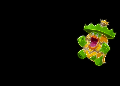 Pokemon, Fractalius, black background - related desktop wallpaper