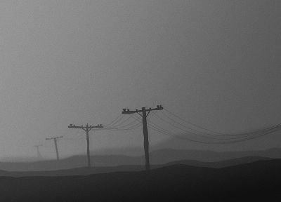 landscapes, grayscale - related desktop wallpaper